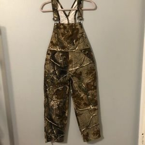 Redhead For Youth Camo Overalls Size M